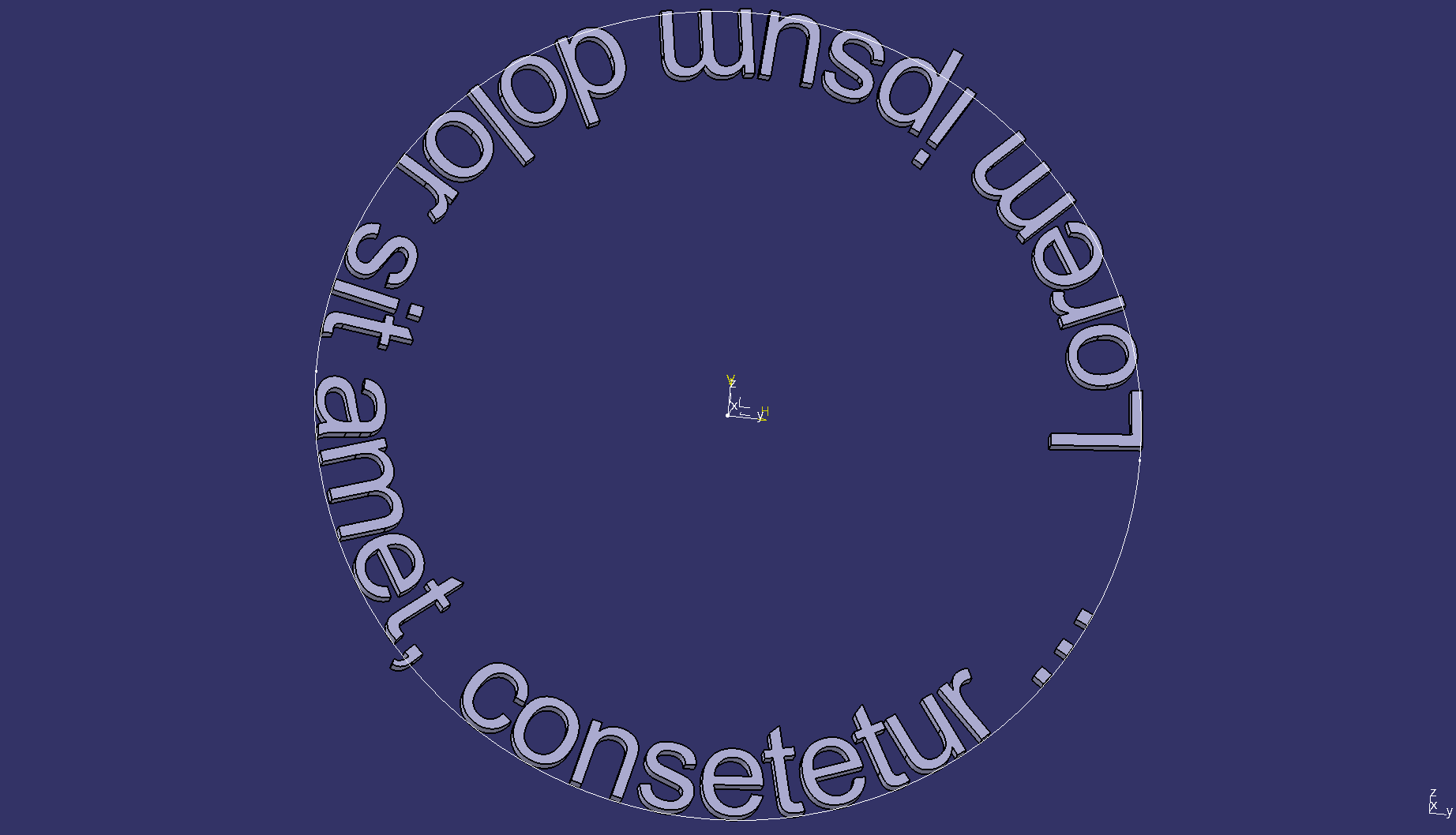 Text on circle