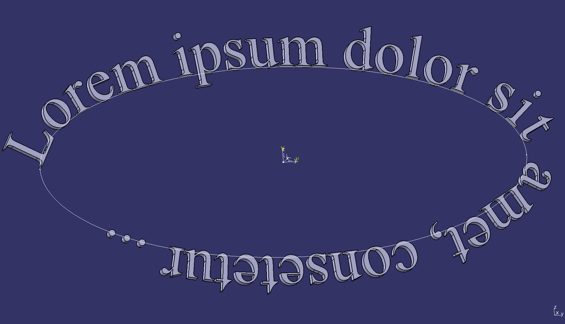 Text on ellipse